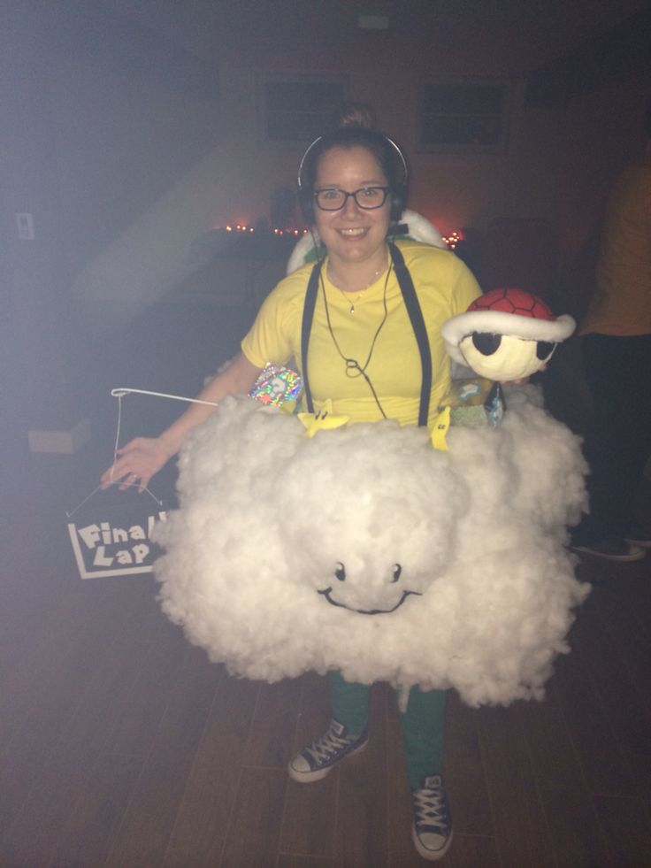 Cloud costume I made for Halloween.. Lakitu from Mario ...