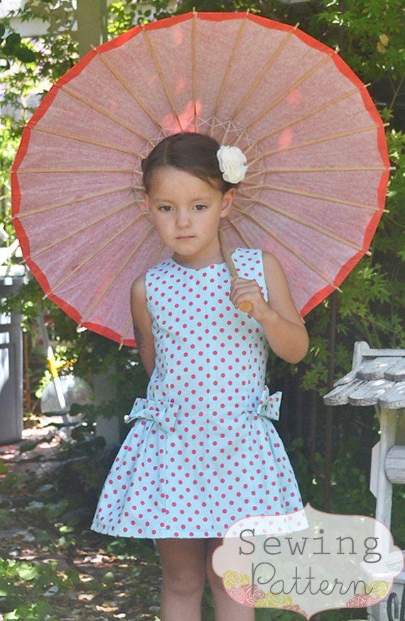 Tutorial y patrón de costura INSTANT DOWNLOAD - Morgan vestido (tamaños 12/18 meses a 8) PDF