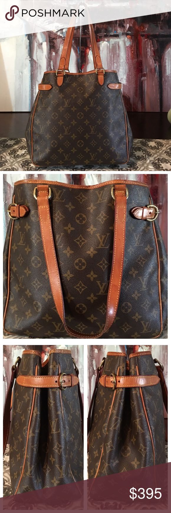 """AUTHENTIC LOUIS VUITTON BATIGNOLLES 100% Authentic Louis Vuitton Batignolles Shoulder Tote Bag. Beautiful. Classy. Roomy. Monogram canvas has no scratches or tears. Corners are rubbed. Vachetta leather shows normal wear and has turned into a caramel patina. Straps in good shape no cracks 👍🏻 Hardware has a golden tone. Zipper works properly. Inside and pockets are in good condition. W9.25""""xH8.66""""xD5.52"""" Straps 13.40"""" No trades. Will go fast.... Louis Vuitton Bags Shoulder Bags"""
