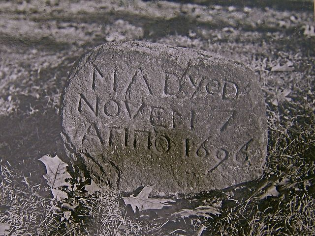 Ma Dyed. A sad little gravestone I found in Old Deerfield, Mass.