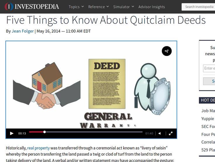25+ unieke ideeën over Quitclaim op Pinterest - Fotomarketing - quick claim deed