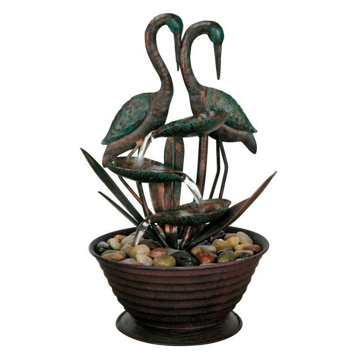Foreside home and garden cranes metal floor fountain