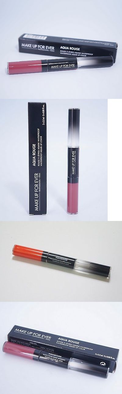 Lip Stain: Make Up For Ever Aqua Rouge Waterproof Liquid Lip Color 2.5 Ml × 2 Full Size -> BUY IT NOW ONLY: $39.99 on eBay!
