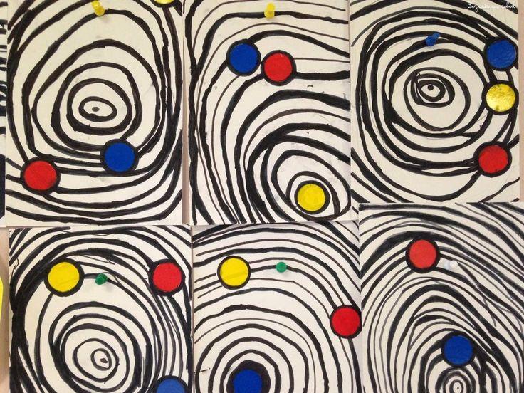 Alexander Calder ronds graphisme grande section maternelle