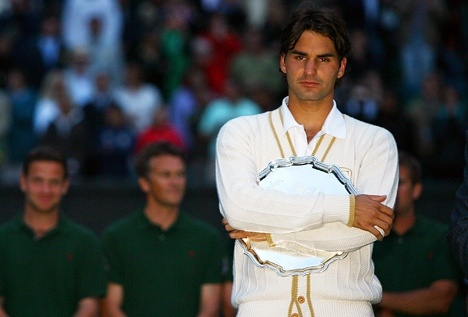 Wimbledon 2008 - When he lost to Rafa in an epic final