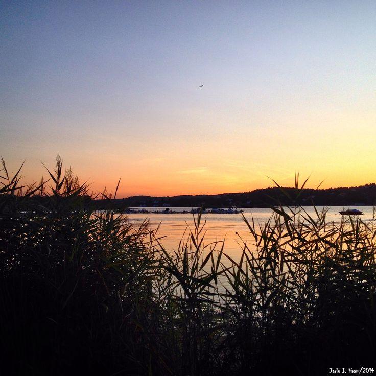 Solnedgang over Hovekilen.