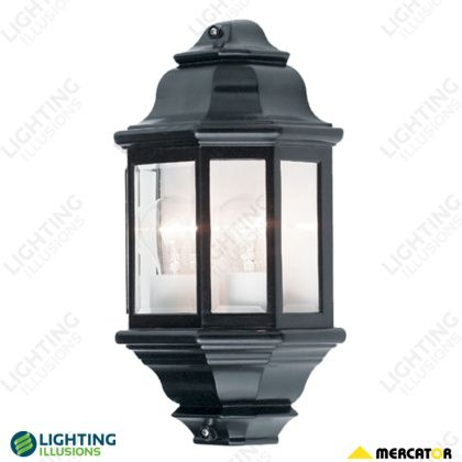 Beige Nepean 2 light Half Wall Exterior Light - Wall & Pillar Lights - Exterior Lighting - Lighting - Shop - Lighting Illusions Online