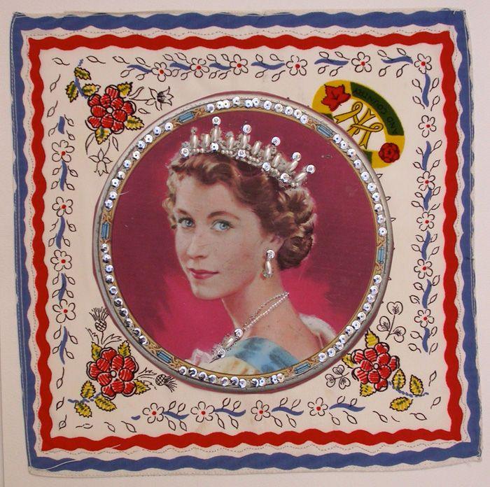 Mandy Pattullo   Jubilee Fever | inspiration: Pattullo Jubilee, Jubilee Fever, British Royalty, Memorabilia Wishlist, Mandy Pattulo, Royalty Queen Elizabeth, Textile Embroidery Art, Elizabeth Ii, Mandy Pattullo