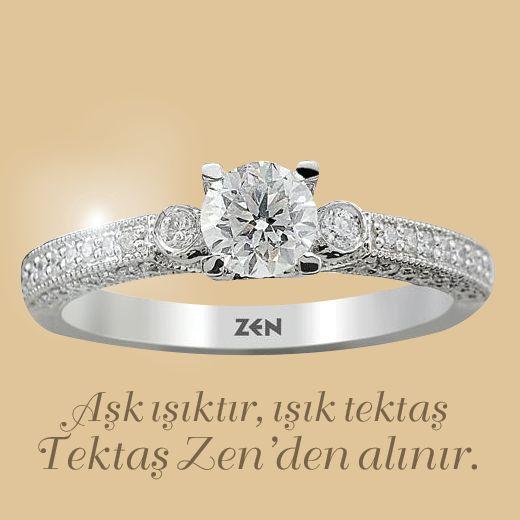 Aşk ışıktır, ışık tektaş... Tektaş Zen'den alınır. #Tektaş #Engagement #Engagementring #ring #gold #yuzuk #altin #evlilik #nisan #hediye #gift #wedding #love