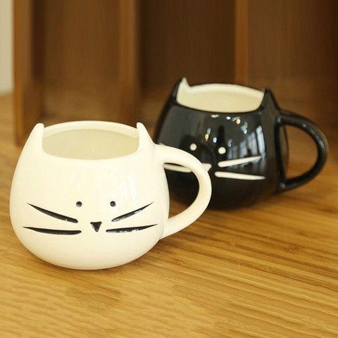 Kitten Mug – Cute Dose Me las imagino con galletas o con una plantita, más que como taza de desayuno. Pero molan anyway.
