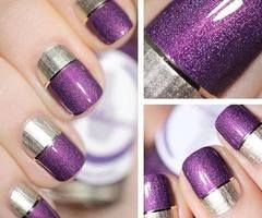 Glam purple and silver