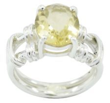 Citrine 925 Sterling Silver Ring ideal Yellow gemstone AU gift