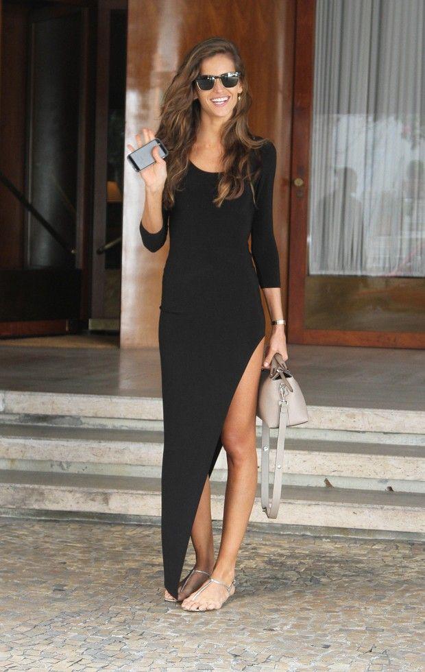 summer outfits womens fashion clothes style apparel clothing closet ideas  long maxi black dress sunglasses