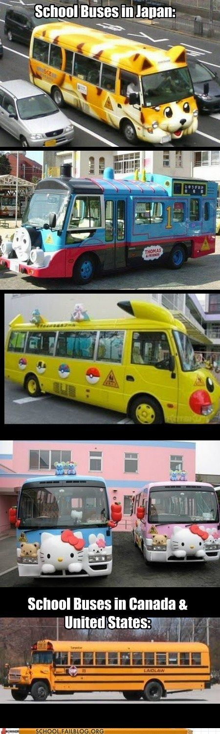 School Buses are More Magical in Japan :(
