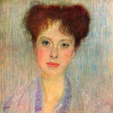 Gustav Klimt, Portrait of Gertrud Loew - Gertha Felsövanyi (detail) - 1902 on ArtStack #gustav-klimt #art