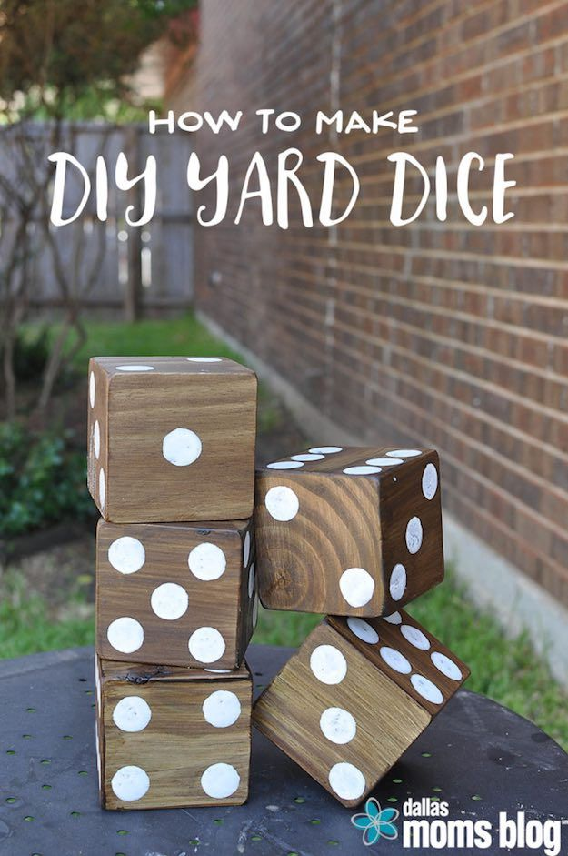 Giant Yard Dice | DIY Backyard Projects To Try This Spring | DIY Projects