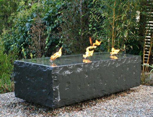 Basalt Fire Reflecting Pool By Archt Korn Randolph