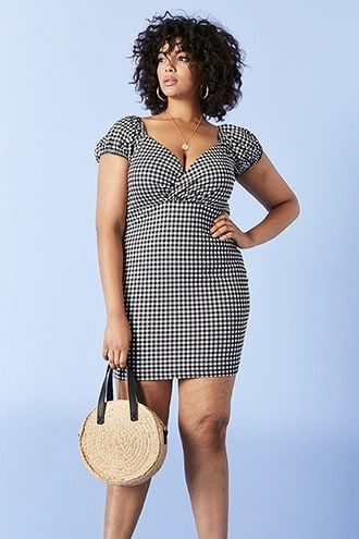 a93c402e1e Plus Size Gingham Mini Dress