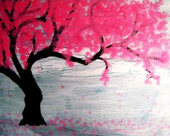 10 best cherry blossoms images on pinterest blossom for Simple cherry blossom painting