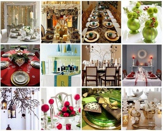 If you're looking for some festive decor for your Christmas table, click through.    Post image for Festive Table Decorations for Your Christmas Feast