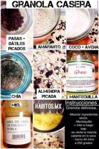 ¡Granola casera! | Hábitos Health Coaching