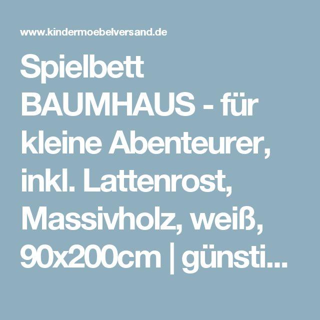 New Spielbett BAUMHAUS f r kleine Abenteurer inkl Lattenrost Massivholz wei xcm