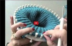 Snood au tricotin
