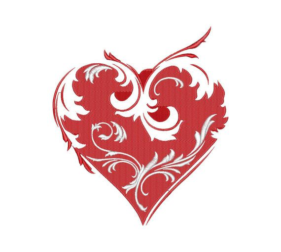 Hearts, Love, Valentine - Machine Embroidery Design - Instant Download - Four sizes