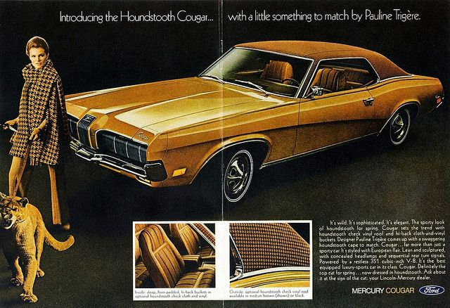 1970 Mercury Cougar Xr7 With Houndstooth Roof Option Car