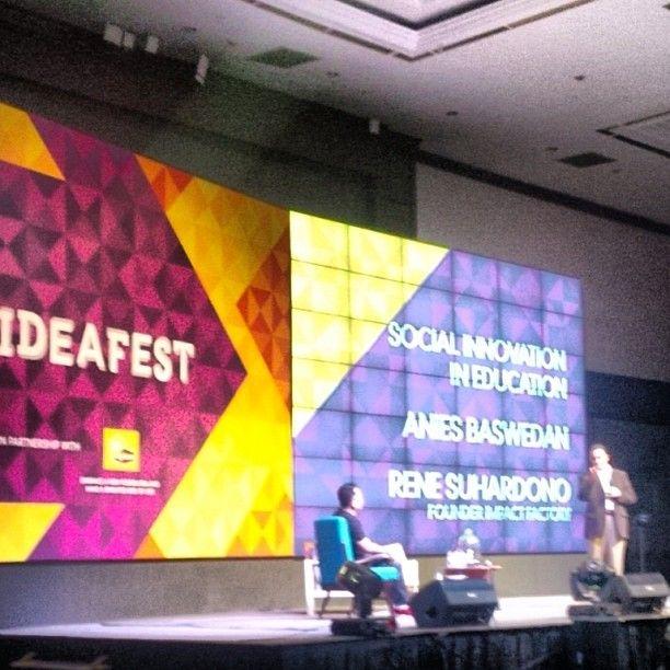 #ideafest2013 @aniesbaswedan moderator @Rene Cobb Cornette via @Irvan A. Noe'man