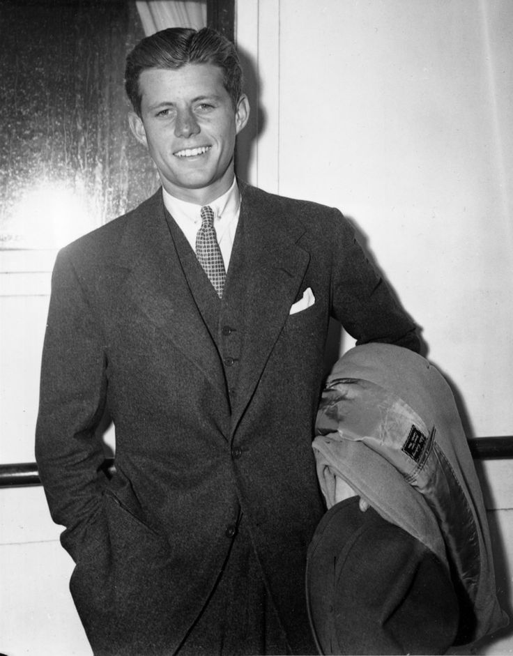 """""""Tolerance implies no lack of commitment to one's own beliefs. Rather it condemns the oppression or persecution of others.""""   John F. Kennedy, son of United States Ambassador to Britain, Joseph P. Kennedy, is shown on his arrival in New York, September 8, 1938, from Europe as a passenger on the S.S. Bremen. (AP Photo)"""
