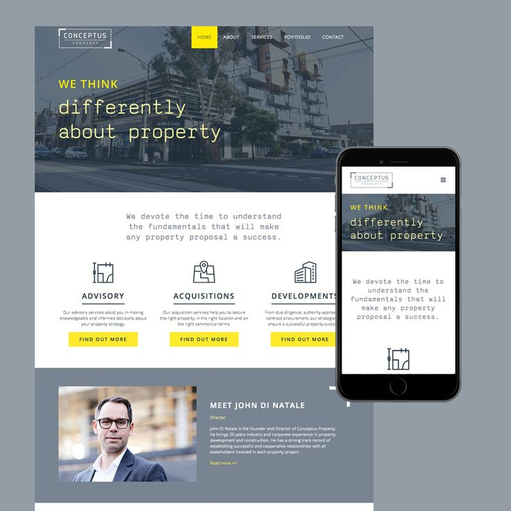 Property Development Melbourne website for Conceptus Property.