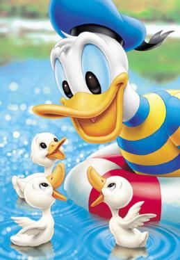 Donald en de duckies.