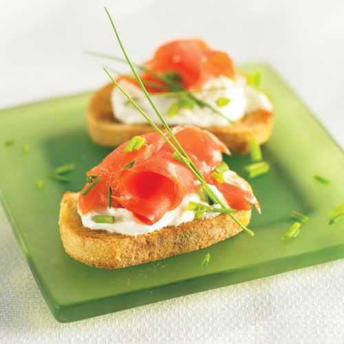 Smoked Salmon Crostini #recipe