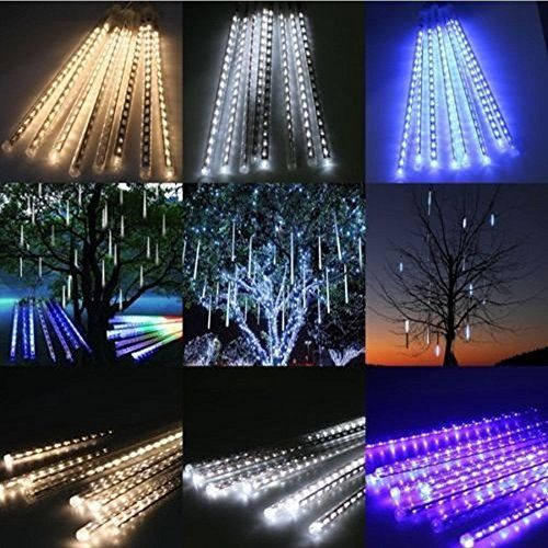 #Yunan #LED #Falling #Rain #Lights with #30cm #8 #Tube #144 #LEDs, #Meteor #Shower #Lights, #Icicle #Snow #Fall #String #LED #Cascading #Lights for #Wedding, #Party, #Holiday, #Xmas #Decoration Specs: #tube length: 11.8inch/ #30cm; #tube quantity: #8 tubes; #LED bulbs of per tube: 18; number of #LED bulbs: #8 tubes x 18LED (144LED Lights); plug type: US plug; Voltage: 110V-220V, Watt: 5W. High Quality & Energy Efficient: dustproof; transparent PC material, corrosion resistant