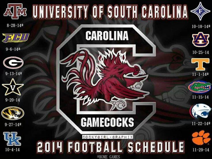 2014 Football Schedule!!!! #GoGameocks!!!!!!!!!!