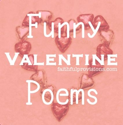 Lighten up your Valentine's Day with these funny valentine poems.