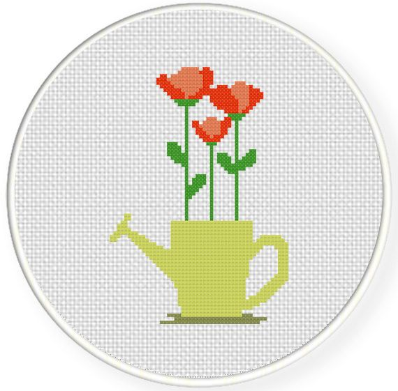 FREE for Sept 26th 2014 Only - Water Sprinkler Blooms Cross Stitch Pattern