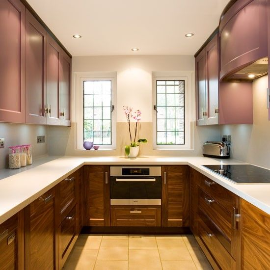 Traditional U-shaped kitchen| Small kitchens | Compact kitchen ideas | PHOTO GALLERY | Beautiful Kitchens | Housetohome.co.uk