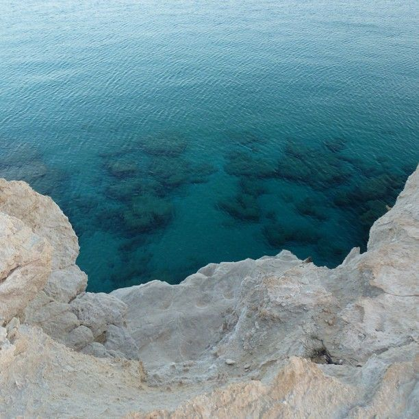 White rocks and azure waters in Ammoopi beach, Karpathos
