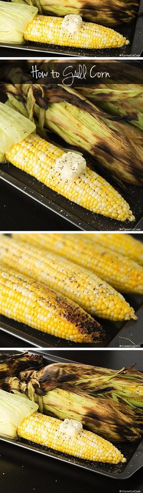 GRILLED CORN is ONE of the best things about summer! This easy recipe will guide you through HOW to perfectly grill corn!
