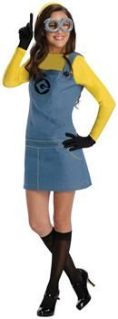 PartyBell.com - Despicable Me 2 Lady Minion Adult Costume