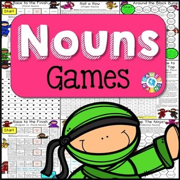 Nouns Games contains 13 fun and engaging printable board games. These Nouns Games are so simple to use and require very minimal prep.