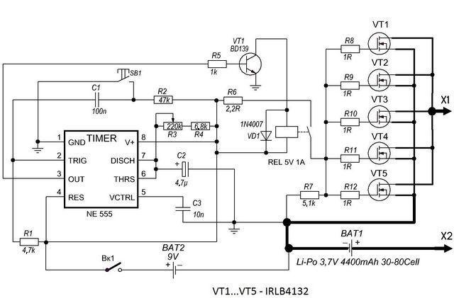 Portable Battery welding Circuit (transformerless in 2020