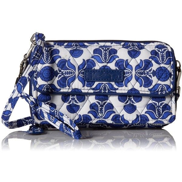 Vera Bradley All In One Crossbody for Iphone 6+ Wristlet ($54) ❤ liked on Polyvore featuring accessories, tech accessories, iphone wristlet, vera bradley wristlet and vera bradley