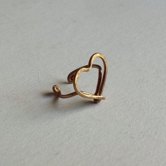 Sweet Heart Ear Cuff от catchalljewelry на Etsy