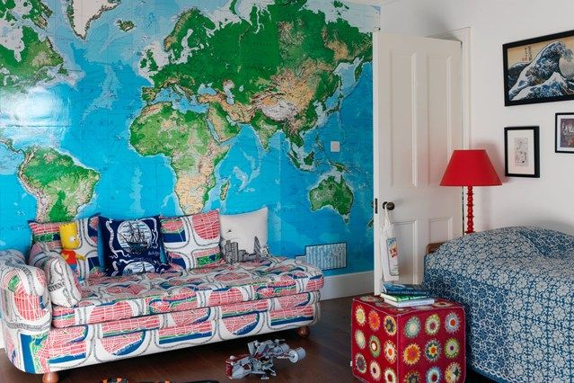 Discover wall murals for kids on HOUSE - design, food and travel by House & Garden. Travel is the theme of this child's room in West London.