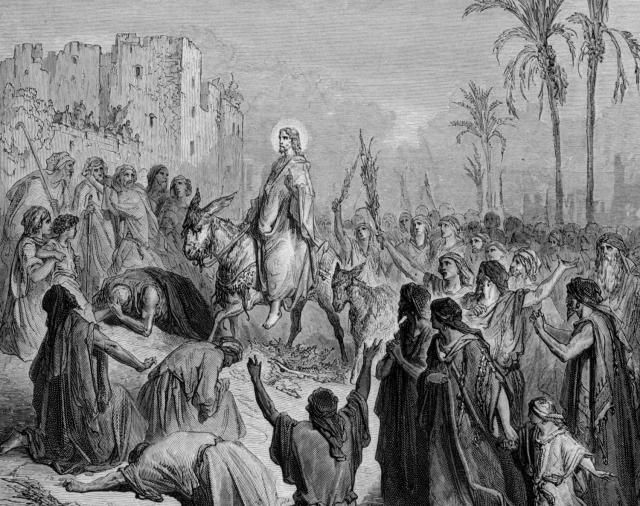 Palm Sunday, [Sunday before Easter Sunday], is the start of Holy Week for Christ's followers. On Palm Sunday Christians mark Jesus Christ's triumphal entry into Jerusalem.