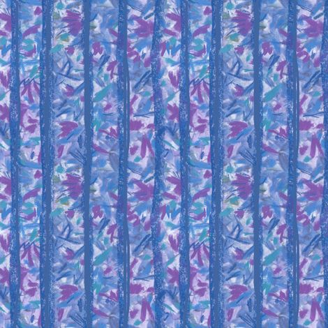 Blue Moss Stripes fabric by musingmeanders on Spoonflower - custom fabric #Spoonflower #SpoonflowerMaker #Fabric #SurfaceDesign #Fabric Design #InteriorDesign #botanicals #HomeDecor #Quilting #Sewing #FabricStash #blue #stripes #moss #turquoise #violet