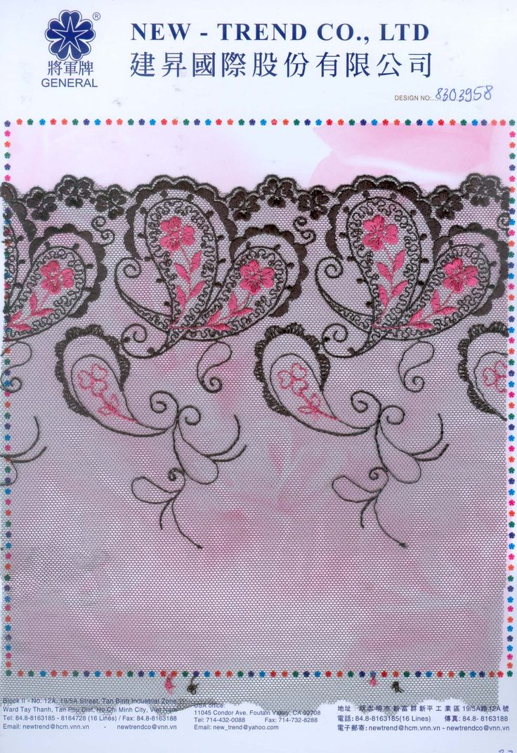 # 8303958 New-Trend Co., Ltd. Lace & Embroidery with the Vietnamese touch